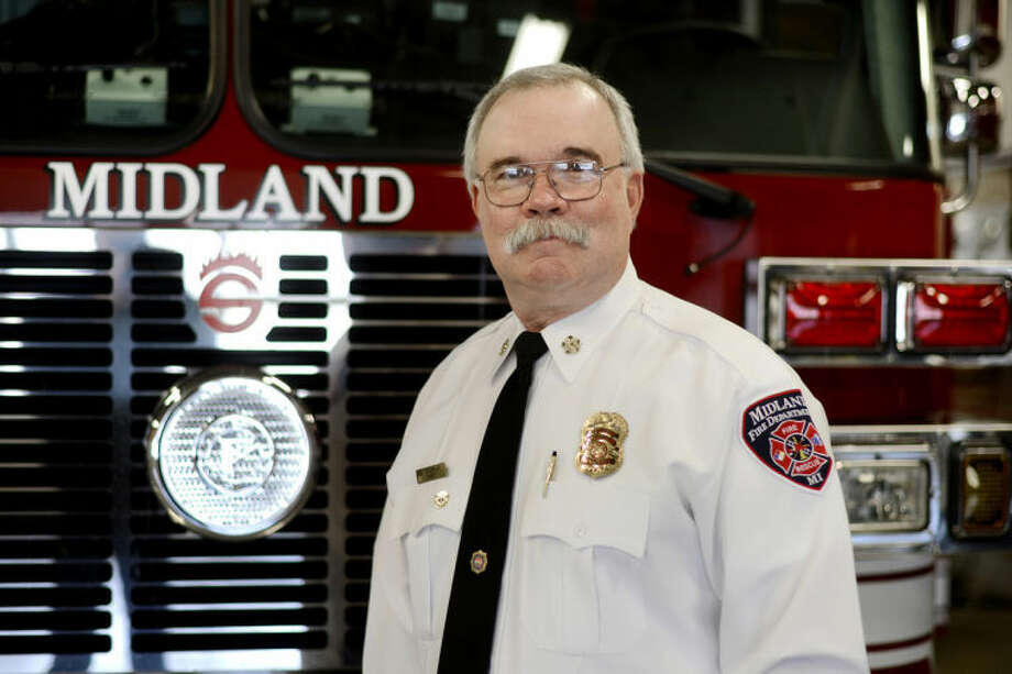 NICK KING | nking@mdn.netMidland Fire Department Chief Chris A. Coughlin was hired one year ago into the department's top position. Photo: Nick King/Midland  Daily News
