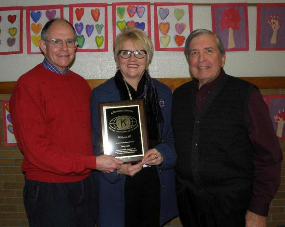 Photo providedPictured are, from left,  Kiwassee Kiwanis Foundation President Bill Burk, Eastlawn Elementary Principal Bonnie Westervelt and Norm Lake.