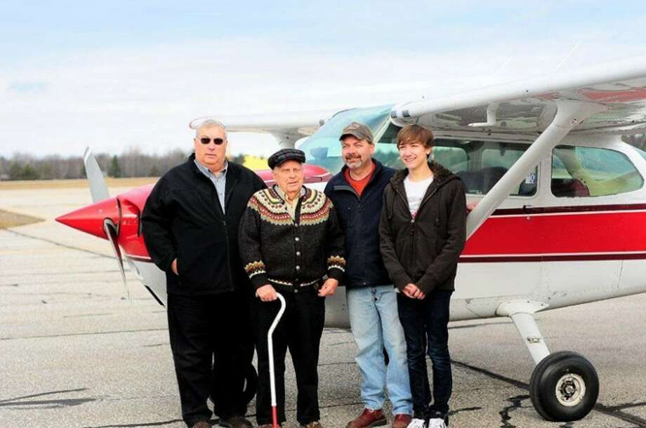 Photo providedAll four generations of Kris Anderson's pilot family were in attendance when the 16-year-old completed his first solo flight in December.