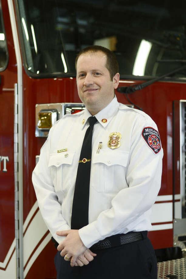NICK KING | nking@mdn.netMidland Fire Department Fire Marshal Josh Mosher. Photo: Nick King/Midland  Daily News