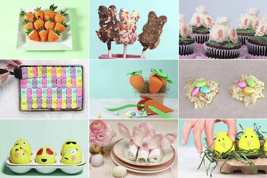 These Easter-ready recipes and crafts are fun to make and take less than 30 minutes each.NEXT-LEVEL EGG DECORATIONS: Check out the following photos to see people who took their egg decorating game to another level.