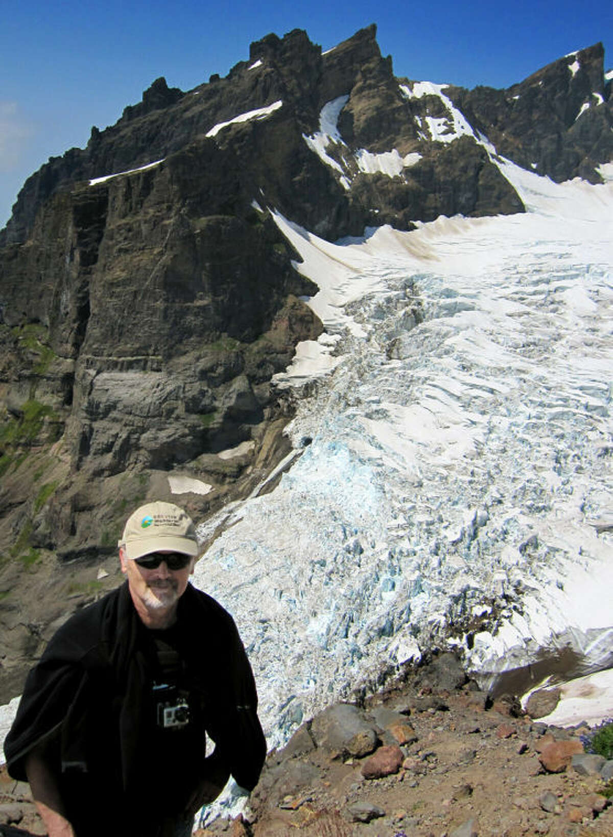 Photo providedPeter Sinclair is shown at the Easton Glacier on Mt. Baker, Cascades Range, in August 2012.