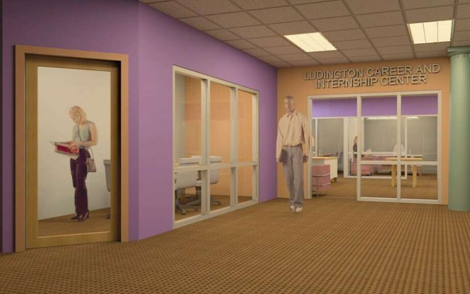 Artist rendition providedThe John S. Ludington Career and Internship Center will be located on the lower level of Albion College's revamped Stockwell Library.
