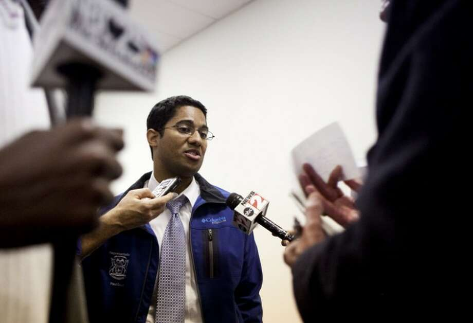 AP Photo | The Flint Journal, Sean RyanMichigan state Rep. Paul Scott fields questions from the media after making a concession speech to the recall effort in front of his supporters and media Tuesday night at his recall headquarters in Grand Blanc. Scott said final vote counts showed him losing by 232 votes and he will not challenge the recall. Photo: Sean Ryan \u007c The Flint Journal