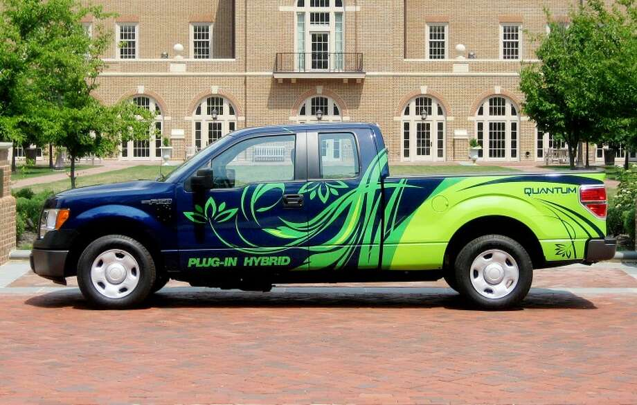 Photo courtesy of Dow KokamA Ford F-150 plug-in hybrid uses battery materials from Dow Kokam. The truck has a battery life of roughly 10 years and a range of 35 miles.