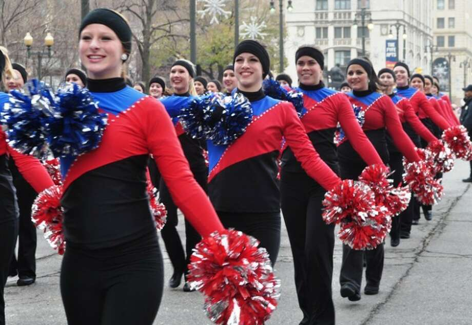 Photo provided.Members of the team perform in a Thanksgiving Day parade.