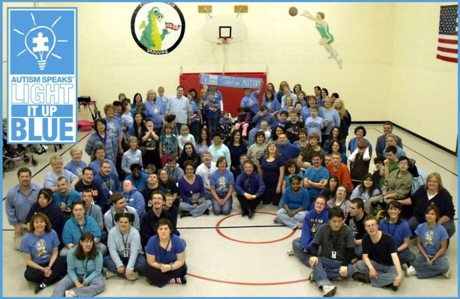 "Photo providedThe Clare-Gladwin Area School and Regional Education Service District recently participated in the Autism Speaks ""Light It Up Blue."""