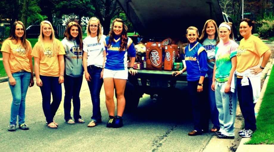 Photo providedMembers of the Chemic junior varsity softball team recently participated in a number of fundraising projects to raise money for the MS Foundation.