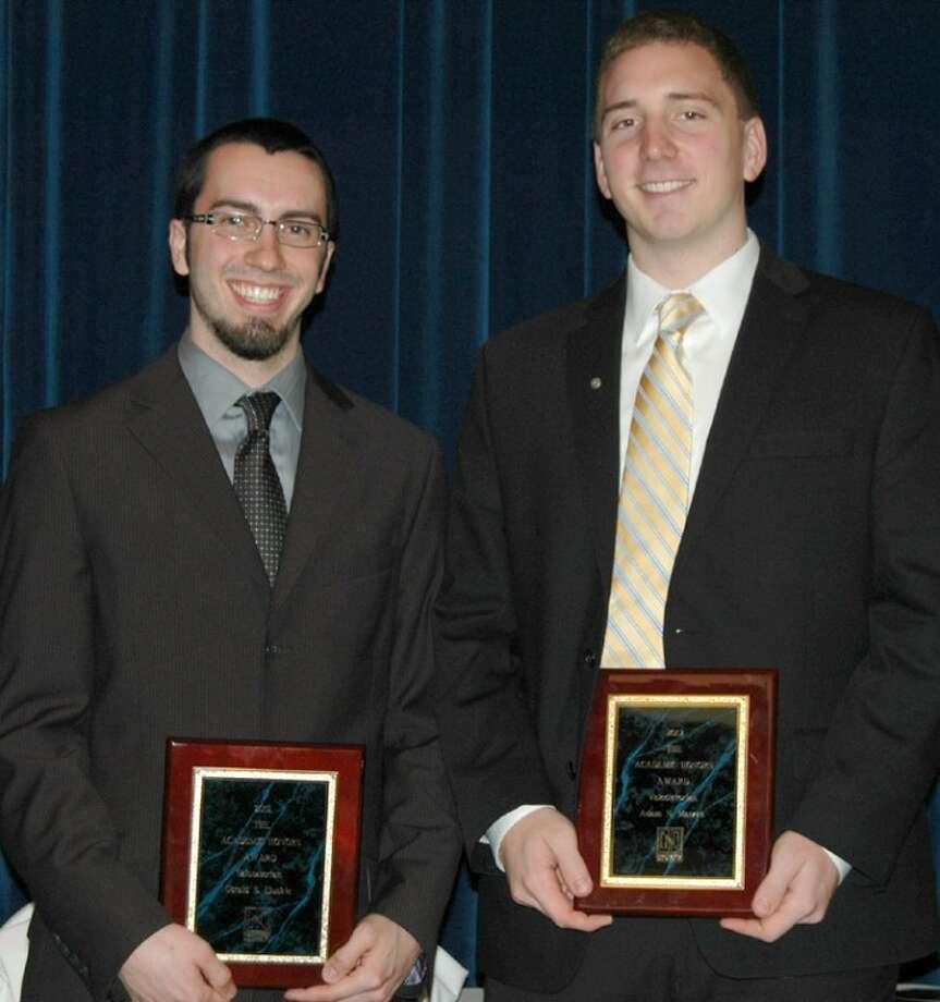 Photo providedBBA class salutatorian Gerald S. Eluskie, of Lake Orion, left, and valedictorian Adam N. Matzke of Midland.