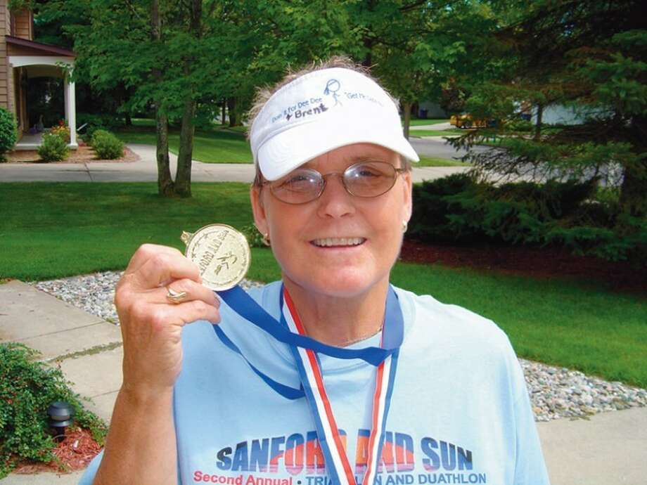 Midland's Cheryl Clark, 68, is participating in this Saturday's Sanford and Sun Triathlon in Sanford.