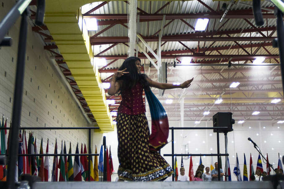 CHUCK MILLER | for the Daily News Midland resident Debasmita Kanungo, 10, performs a dance on stage at the Hach Student Life Center at Northwood University as part of Cultural Awareness month in Midland. Photo: CHUCK MILLER