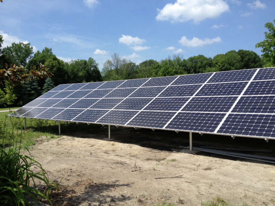 Photo providedSpace Studios installed a large solar panel array that will help reduce electrical costs. Space Studios' worked with Midland Solar Applications on the project.