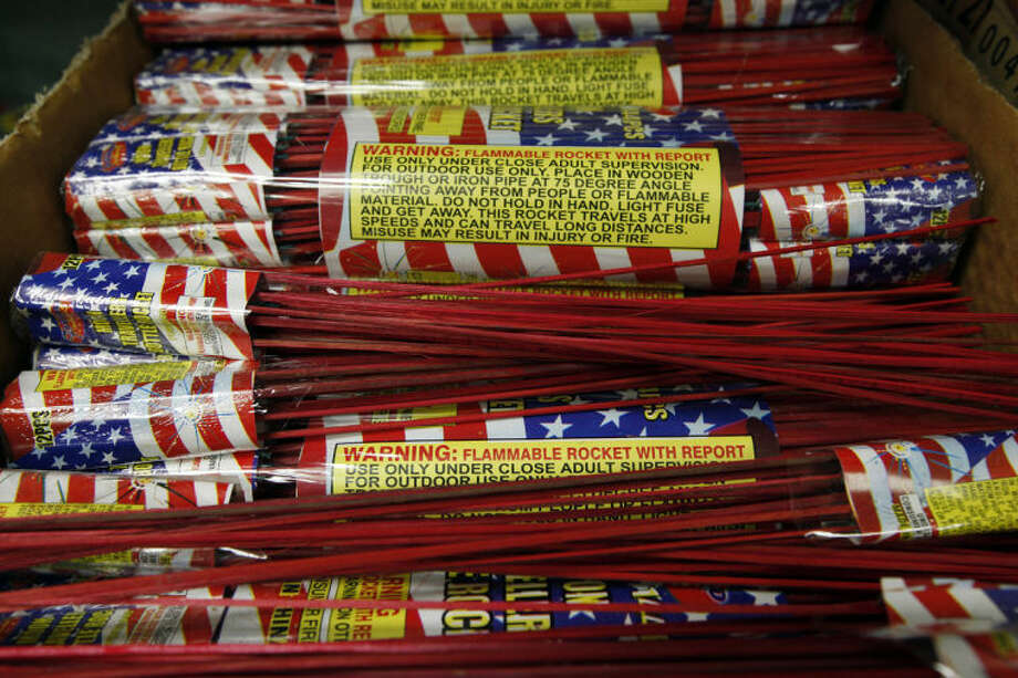 AP Photo | Paul SancyaBottle rockets are a popular choice for Fourth of July fireworks. Photo: Paul Sancya