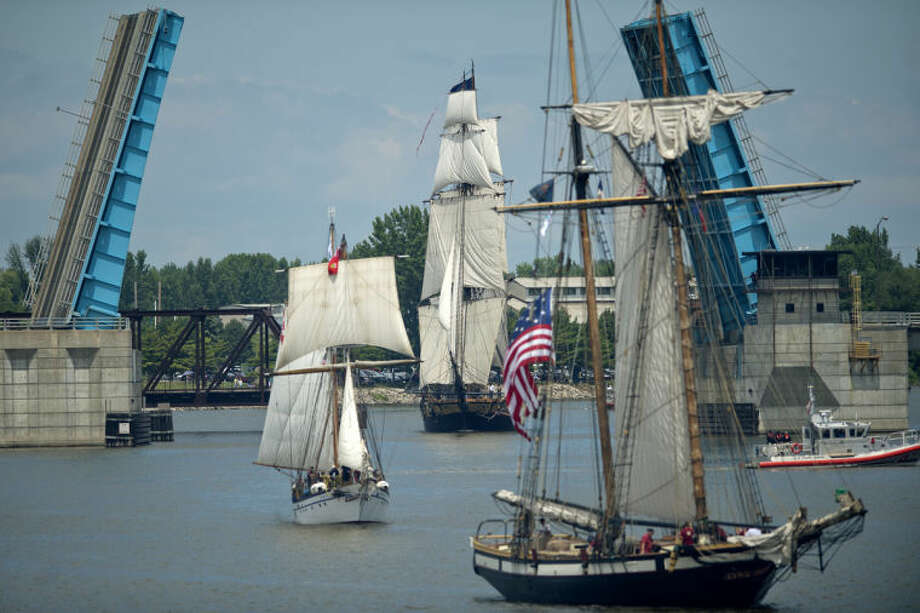 Tall ships arrive in Bay City in this Daily News file photo.