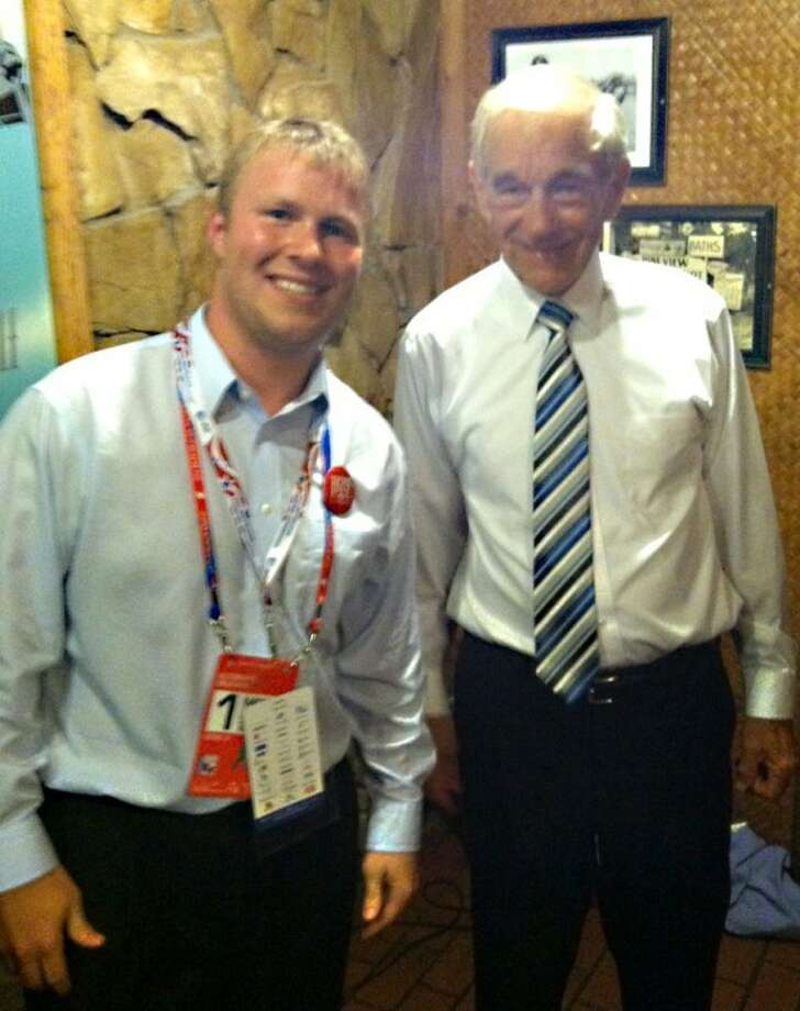 Jake Howard with his personal political hero, Congressman Ron Paul of Texas.