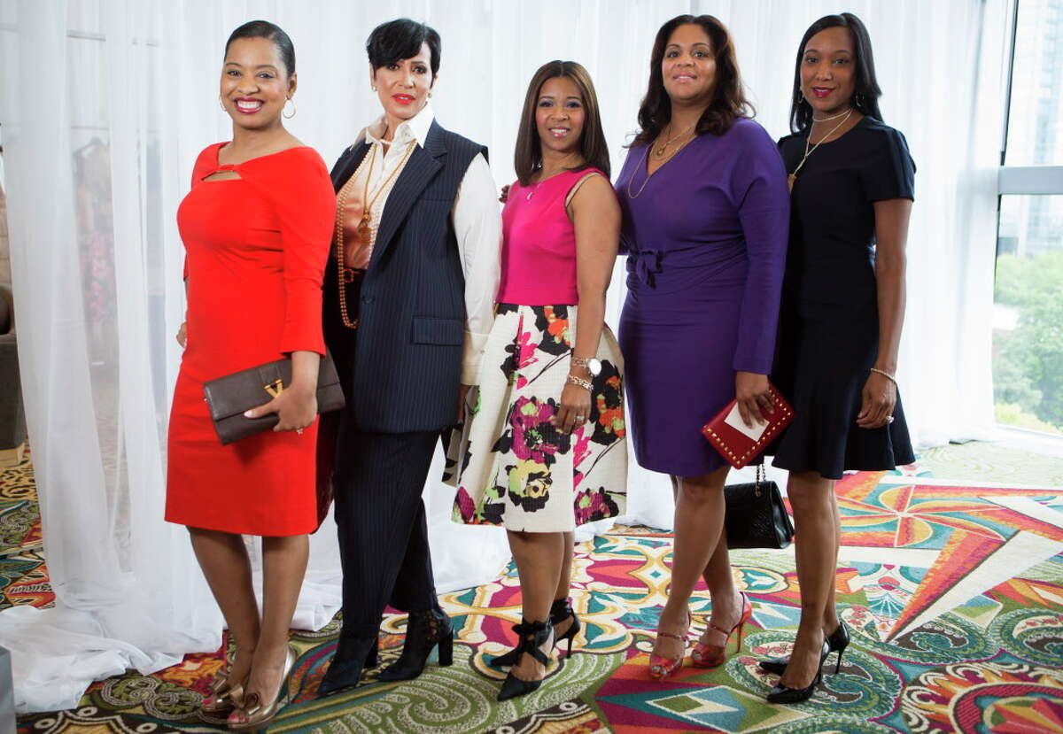 (left to right) Shawntell McWilliams, Jacqueline Kinloch, Tamla Groce, Hilary Green and Loren Lane at The 34th Annual Houston Chronicle Best Dressed Luncheon, Tuesday, March 22, 2016, in Houston.