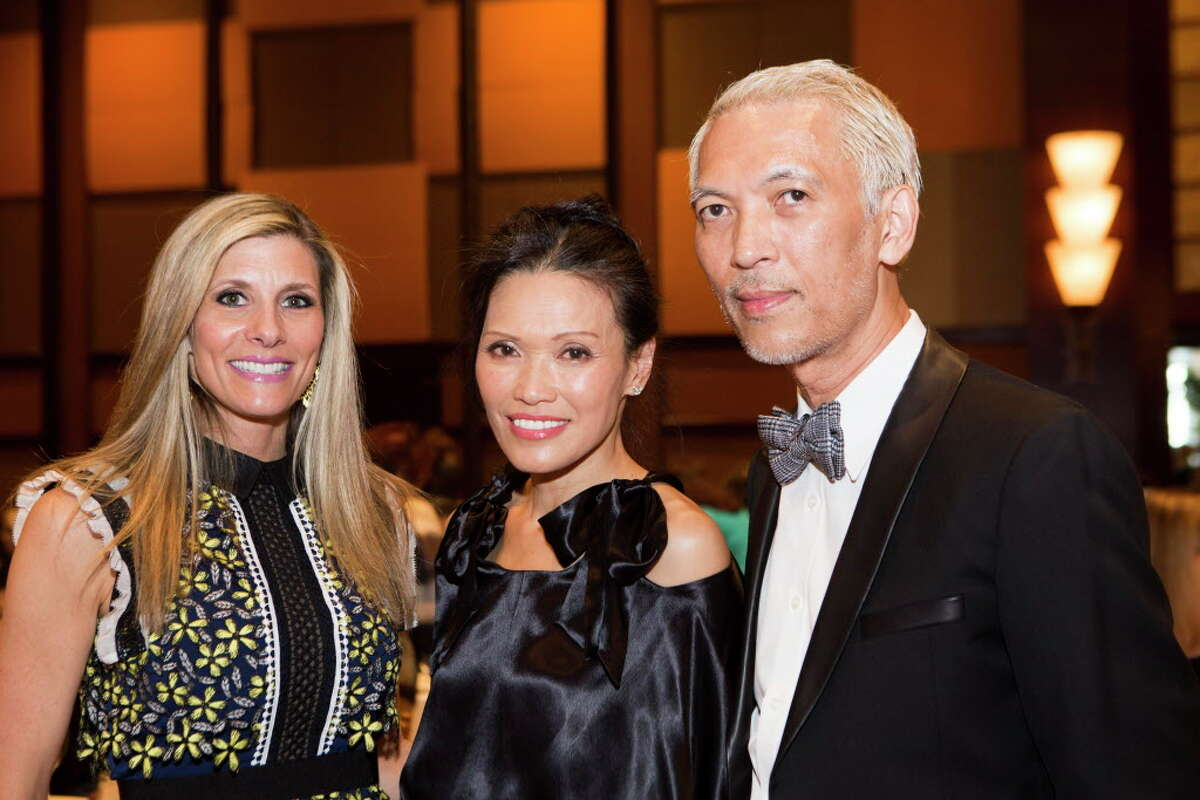 Gina Bhatia, Duyen Nguyen and Marc Nguyen at The 34th Annual Houston Chronicle Best Dressed Luncheon, Tuesday, March 22, 2016, in Houston.