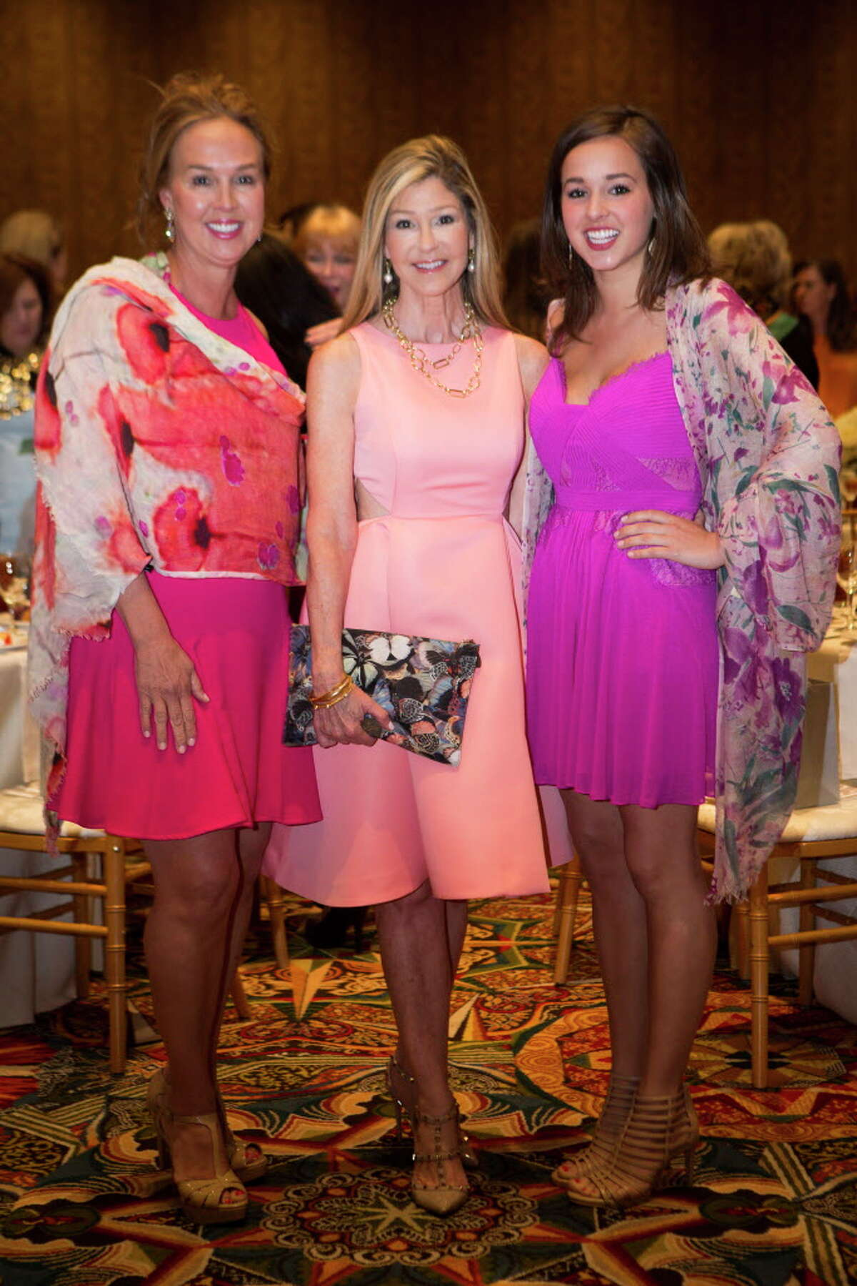 Julie Brown, Patti Murphy and Madeline Brown at The 34th Annual Houston Chronicle Best Dressed Luncheon, Tuesday, March 22, 2016, in Houston.