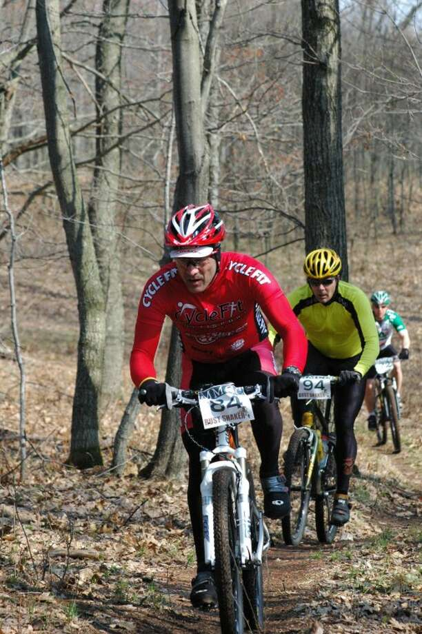 Photo providedMountain bikers participate in the Rust Shaker race at Mid Michigan Community College. This year's race is set for 10:30 a.m. Saturday.