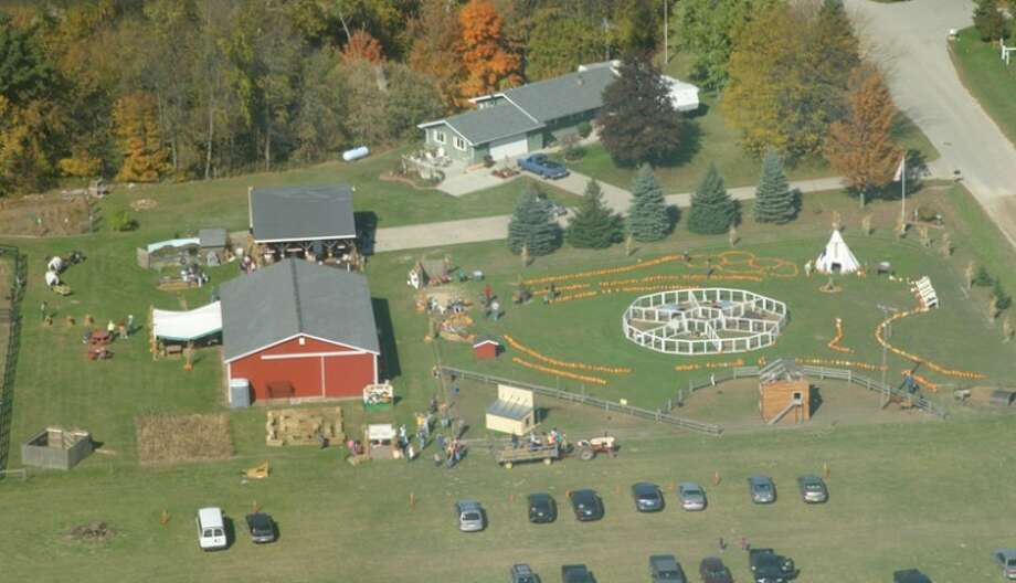 Photo providedThe Old West Harvest Fest near Coleman viewed from above.