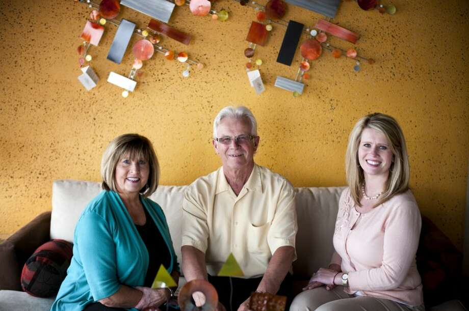 Walter Scherzer, center, his wife Margarete, left, and their daughter Claudia TenBarge, celebrated Stanley Furniture's 60th anniversary in May. The store is an option for those looking to create unique results in home decoration. Photo: THOMAS SIMONETTI | Tsimonetti@mdn.net