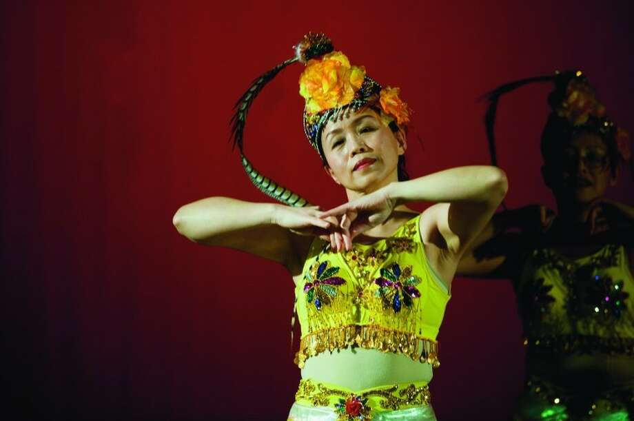 NEIL BLAKE | nblake@mdn.netYing Sun performs a dance styled after traditional Chinese Opera during a rehearsal for the Tri-City Chinese Association Chinese New Year Celebration. Photo: Neil Blake/Midland  Daily News