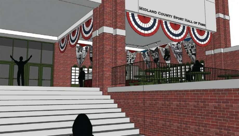 An artist's rendering of the new Midland County Sports Hall of Fame at Dow Diamond in downtown Midland.