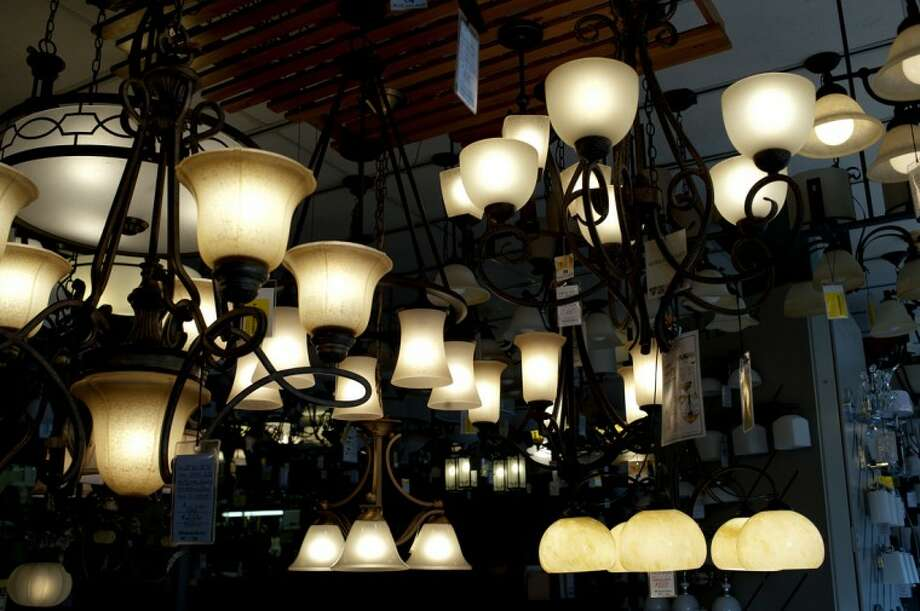 The display room at Wholesale Electric in Bay City is filled with lighting displays. The business has operated in downtown Bay City for over 50 years. Photo: NEIL BLAKE | Nblake@mdn.net