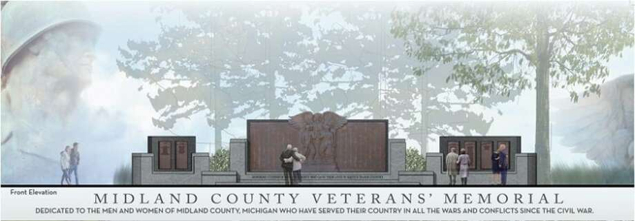 A rendition of the new Midland County Veterans Memorial Photo: A2guest