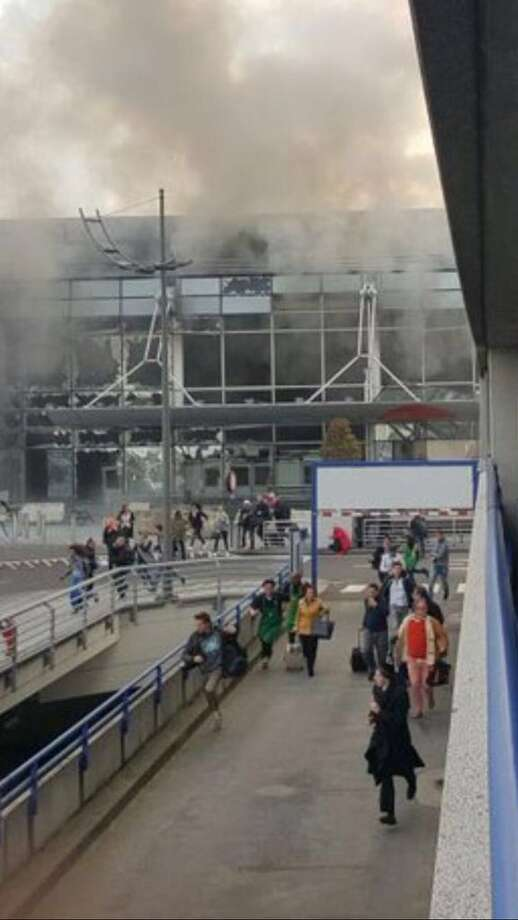 A photo of Zaventem airport in Brussels, Beligum, following a Tuesday morning terrorist attack. Belgian officials said more than 30 people were killed in the attacks and at least 136 were injured when two explosions rocked the airport and another bomb hit a subway train close to the headquarters of the European Union.