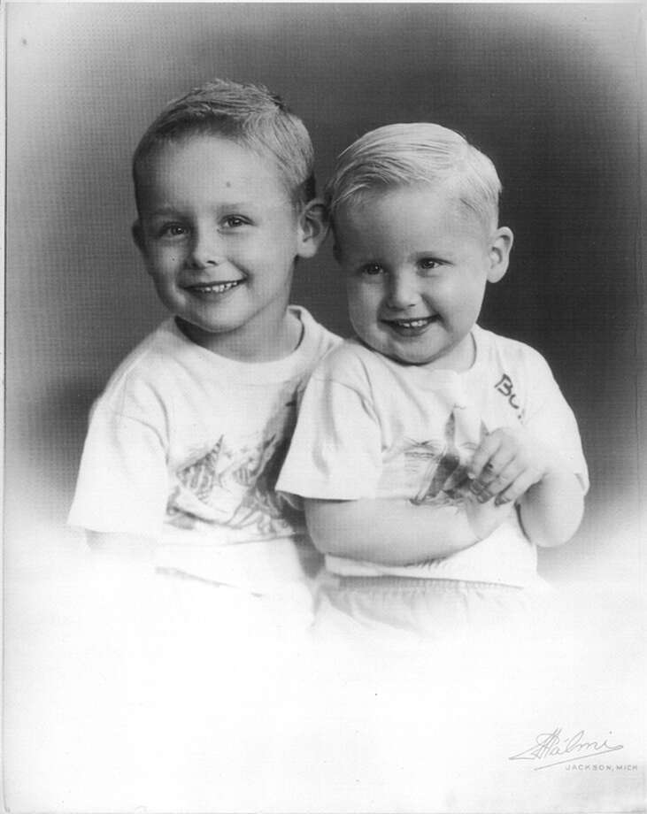 Anthony Dullock Jr. and his brother, Robert, pose for the camera at the ages of 4 and 2. With five boys and just one sister in the Dullock family, all the boys learned to cook, make beds and do dishes. Robert is still a great cook. Photo: Photo Provided