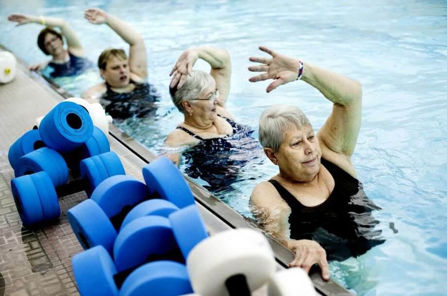 NEIL BLAKE | nblake@mdn.netRuth Milford of Midland works out in a water fitness class at the Midland Community Center on Friday. The fifty plus class meets three times a week and is designed to focus on senior's joints, muscle tone, and range of motion. Photo: Neil Blake/Midland  Daily News