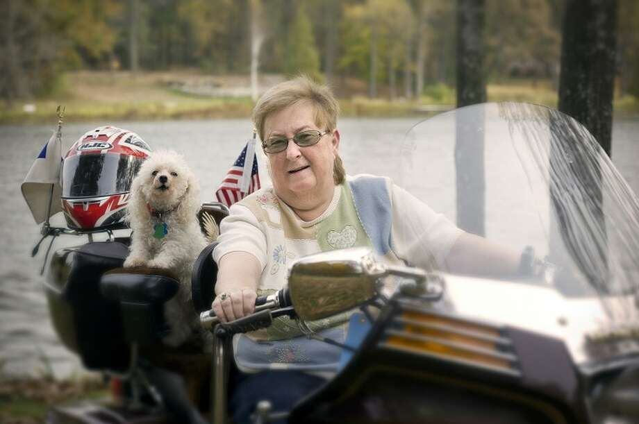 Photo providedParkinson's disease was taking control from Evonne Lamson of Sanford, but LSVT therapy at MidMichigan Medical Center-Midland helped her regain it. Now, she can even take an occasional spin on her Honda Gold Wing, modified with training wheels for added stability.