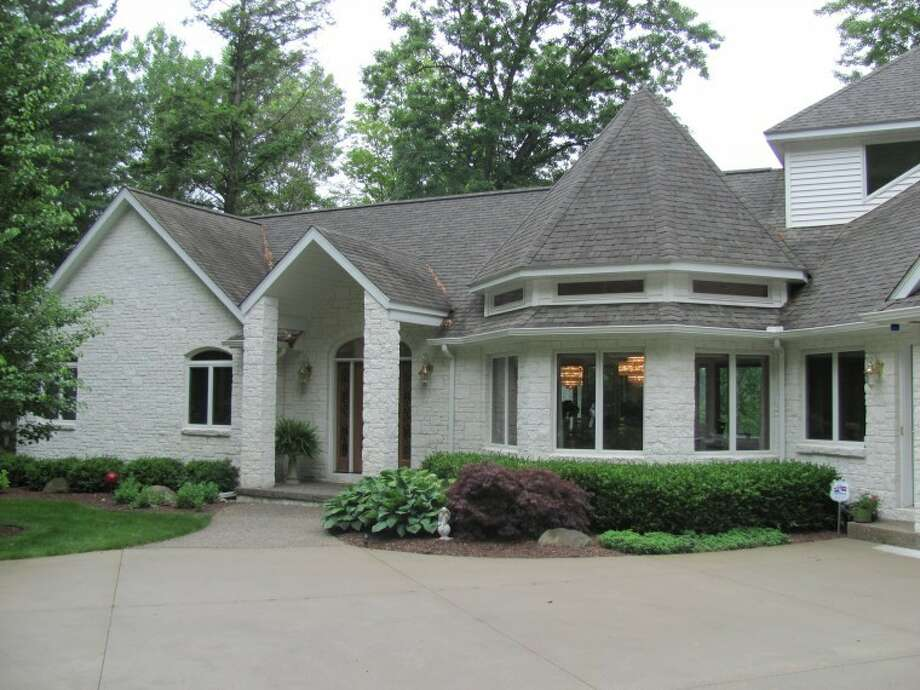 The front of the house.