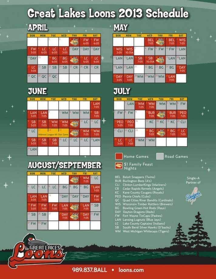 Great Lakes Loons announce 2013 season schedule