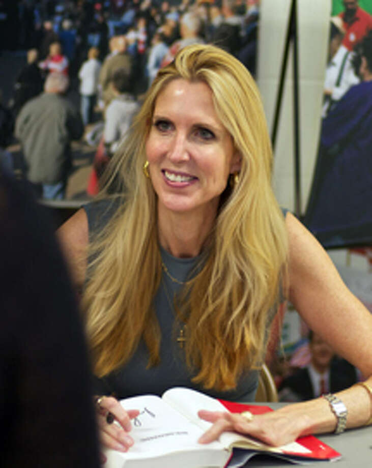 Ann Coulter signs books Saturday in Auburn. Photo: LAMONT LENAR | For The Daily News