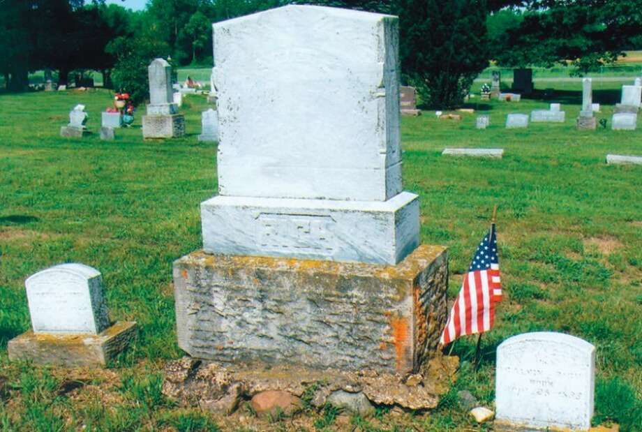 The gravestones of Precilla Rich, left, and her husband, Civil War veteran Calvin Rich, are in the Warren Township Cemetery. They are alongside the graves of Civil War veteran Leland Gregory and his wife, Alzina Gregory. Precilla Rich and Alzina Gregory were sisters.