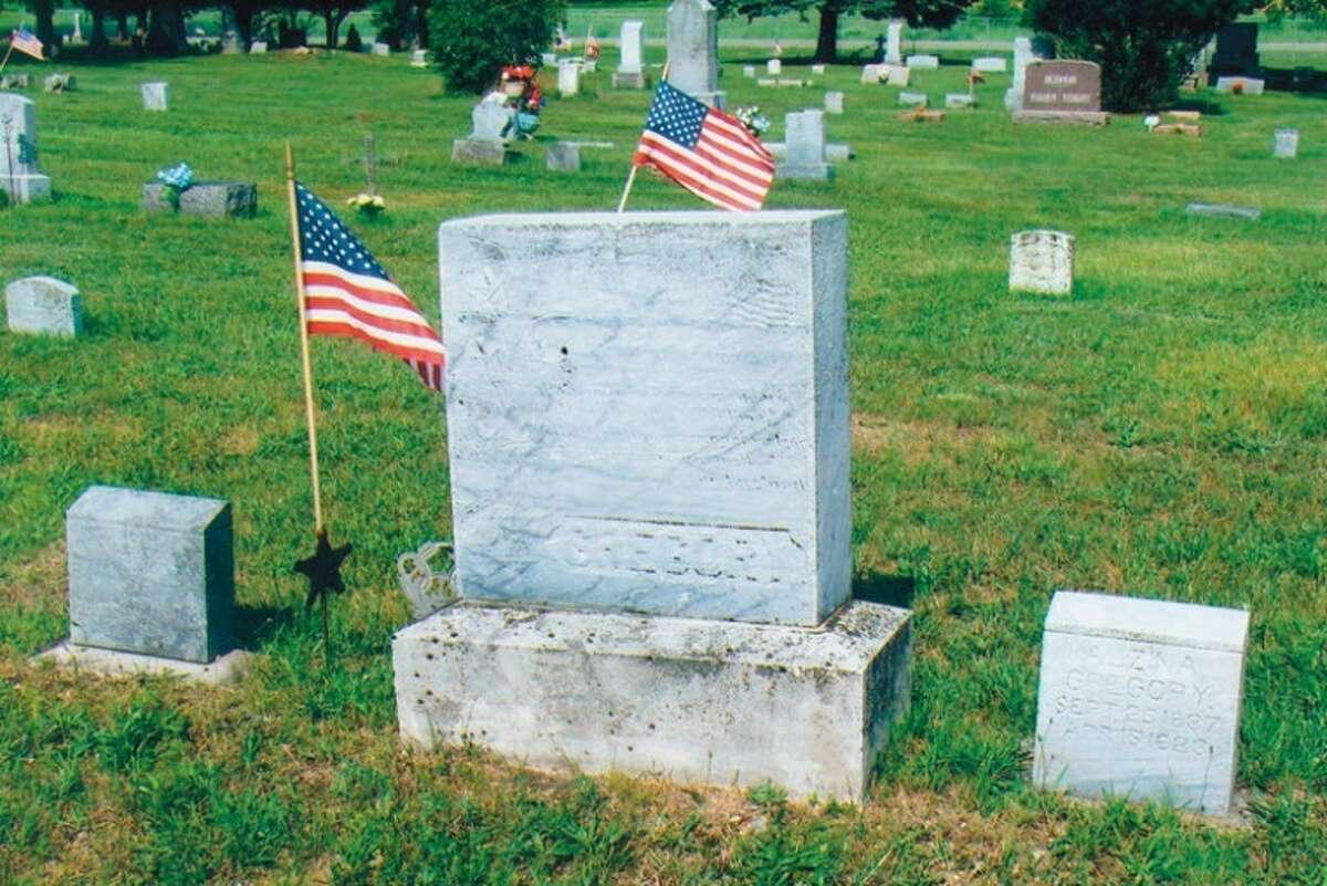The gravestones of Civil War veteran Leland Gregory and his wife, Alzina Gregory, are in the Warren Township Cemetery. Alzina Gregory was the sister of Precilla Rich, whose husband was Civil War veteran Calvin Rich.