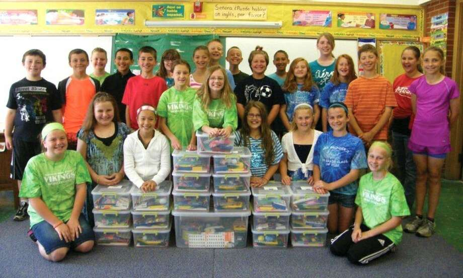 Photo providedThe Leadership Plymouth group raised money throughout the school year to create craft kits for the infusion center at Mott Children's Hospital.
