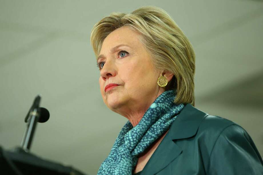 Presidential candidate Hillary Clinton speaks to a group at the IAM District 751 Everett Union Hall, Tuesday, March 22, 2016. She would be swamped by Bernie Sanders in the state's Democratic caucuses. Photo: GENNA MARTIN, SEATTLEPI.COM / SEATTLEPI.COM