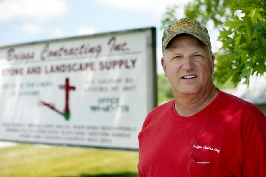 NICK KING | nking@mdn.netBriggs Contracting Inc., Stone and Landscape Supply Manager Mike Sweebe can assist you in your mulch and stone needs. Photo: Nick King/Midland  Daily News