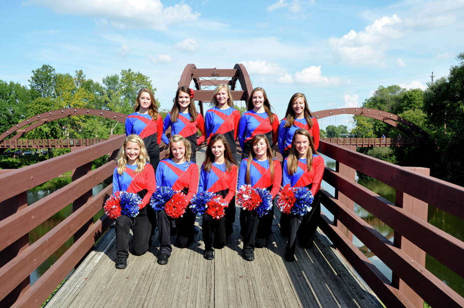 Photo providedThe Midland and H.H. Dow student athletes pictured above were selected to be part of the Mid-American All-Star Pompon team. The team will perform in London next summer.