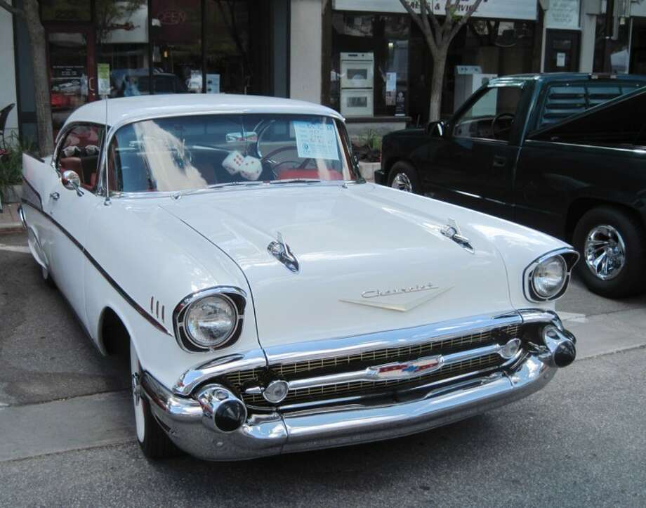 STUART FROHM | for the Daily NewsThe 1957 Chevrolet Bel Air Nate Root of Hope Township found at the Midland County Fairgrounds is displayed at the Cruise 'n Car Show in downtown Midland Sept. 17.
