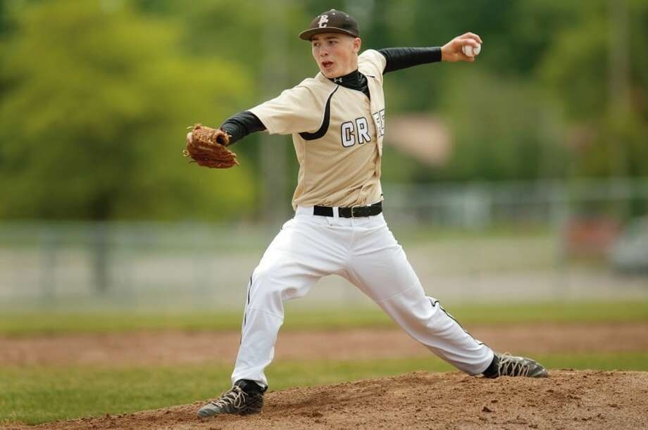 File photoBullock Creek's Keegan Akin was a dominant pitcher and hitter this past spring. As a pitcher, he was 9-0 with a 0.41 earned-run average. At the plate, he hit .454 with 34 RBIs. And in the field, he did not make an error all season. Photo: Neil Blake/Midland  Daily News