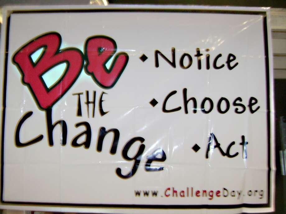 Erika M. Hirschman | for the Daily NewsA sign at Bullock Creek High School promotes the three steps for positive change — notice, choose and act.