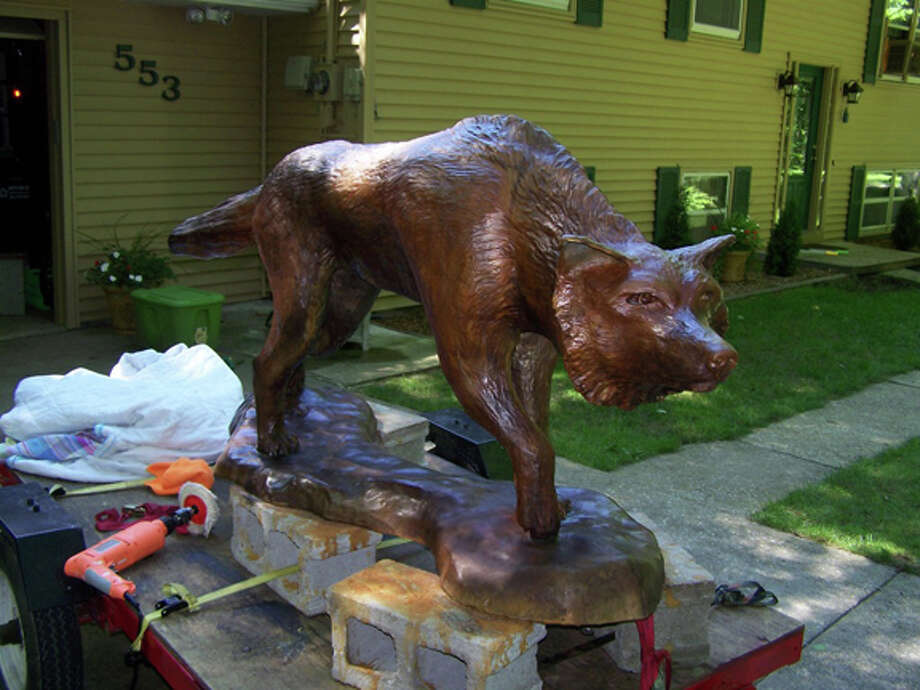 The new bronze sculpture as it was being finished by Midland teacher and artist Curt Gledhill. Photo: Courtesy Photo From The Gledhill Family