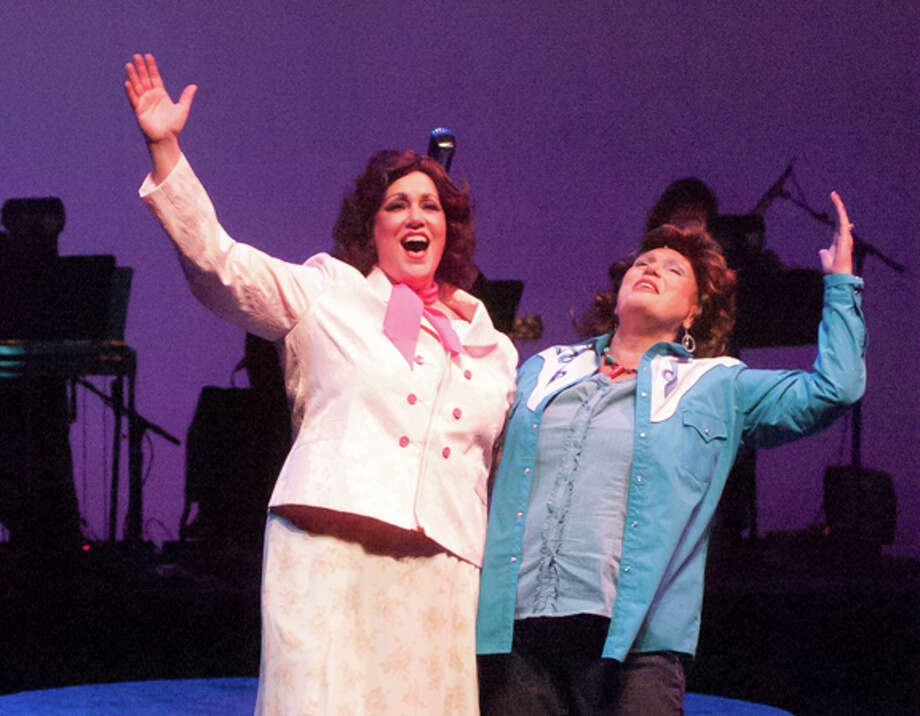 """STEVEN SIMPKINS/Daily News Joanie Stanley as Patsy Cline and Sally Goggin as Louise in """"Always... Patsy Cline"""" at the Midland Center for the Arts."""
