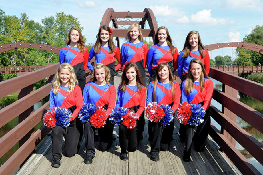 The Midland and H.H. Dow student athletes pictured above were selected to be part of the Mid-American All-Star Pompon team. The team will perform in London next summer. Photo: Photo Provided