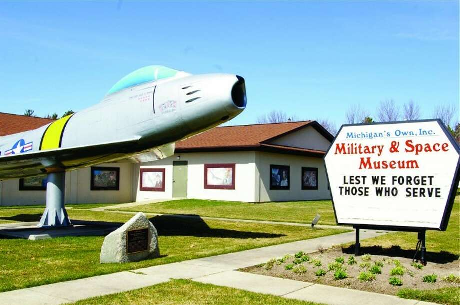 STUART FROHM for the Daily NewsA Korean War-vintage F-86 Sabre with the markings of an aircraft flown by Air Force Capt. Cecil Foster, formerly of Midland, is shown outside Michigan's Own Military & Space Museum at Frankenmuth in this file photo.