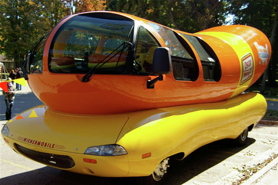 An Oscar Mayer Wienermobile is an attraction at the Northwood University International Auto Show, which ends at 5 p.m. today. Photo: STUART FROHM | For The Daily News